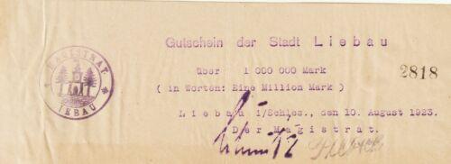 "Germany-Libau,1,000,000 Mark Notgeld 1923,Extra Fine,M#3259.0-C""Free Shipping"""