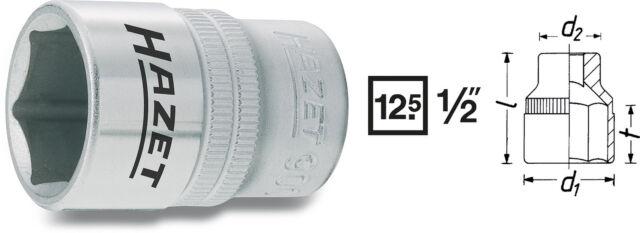 """HAZET 900 Steckschlüsseleinsatz/Nuss 1/2"""" Antrieb, 8 - 36 mm Schl.weite, 6-KANT"""