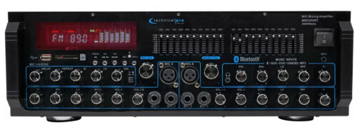 Technical Pro MM2000BT Powered Bluetooth Microphone Mixer Am