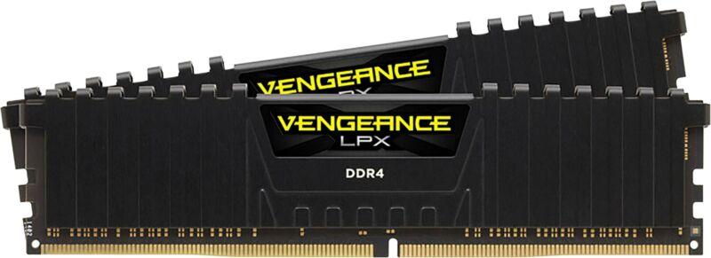 CORSAIR - VENGEANCE LPX Series 16GB (2PK 8GB) 2.4GHz DDR4 Desktop Memory - Black