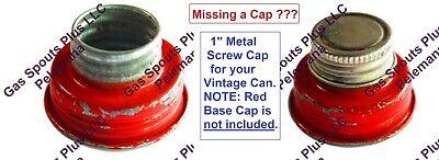 1 Eagle Delphos Metal Gas Can Screw Cap Fuel Gallon Pint Lid Foil Liner 1 Inch