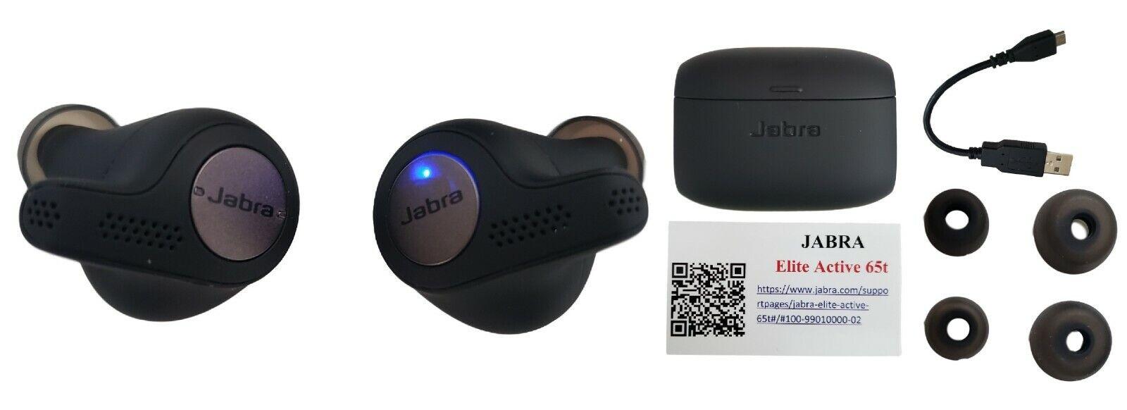 Jabra Elite Active 65t Bluetooth Headset Wireless Sports Earbuds Titanium Black