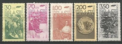 STAMPS-BRAZIL. 1972. 150th Anniversary of Independence Set. SG: 1376/80. Unused.