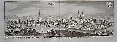 Fulda Hessen Bischof Dom   Merian Kupferstich der Erstausgabe 1646