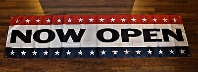 Now Open Banner Sign Huge 1.5 Feet X 5 Big Grand Opening Store Restaurant Flag