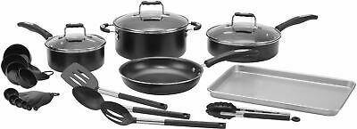 Cuisinart - Complete Chef 22 Piece Cookware Set - Silver
