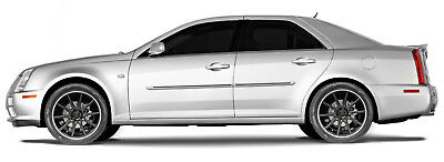 For: CADILLAC STS Painted Body Side Moldings With BLACK Insert Trim 2005-2011