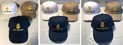 US Navy RETIRED Chief Petty Officer Ball Cap Senior Master CPO SCPO MCPO Hat - Policeman Hats