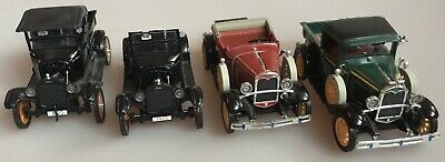 4 Ford Motor Company Die Cast Cars 1931 Model A 2 '25 Model T's  '31 Model A!@!
