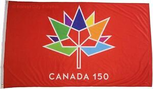 CANADA 150 FLAGS - COLLECTABLE FLAGS TO CELEBRATE 150 YEARS OF A GREAT COUNTRY!!!