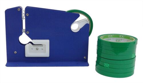 Iron Bag Neck Sealer + 9 Rolls of Tape - Fruit, Nuts, Vegetables Closer