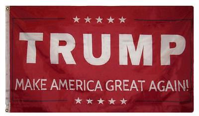 Trump RED Flag Keep America Great Make America Again 3x5 MAGA Flag Banner