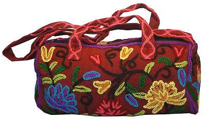 Boho Embroidered Mini Duffle Bag Purse -