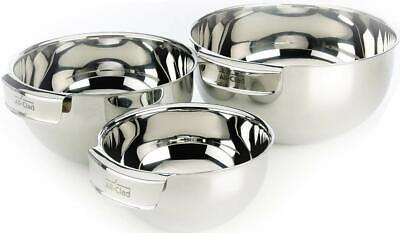 All-Clad MBSET Stainless Steel Dishwasher Safe Mixing Bowls Set Kitchen 3-Piece,
