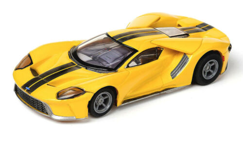 NEW RELEASE!! Tomy AFX Clear Mega G+ Triple Yellow Ford GT HO Slot Car #22029