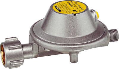 GOK Gas Druckregler Druckminderer und 40 cm Schlauch 30mbar Typ EN 71 1,2 Kg/h