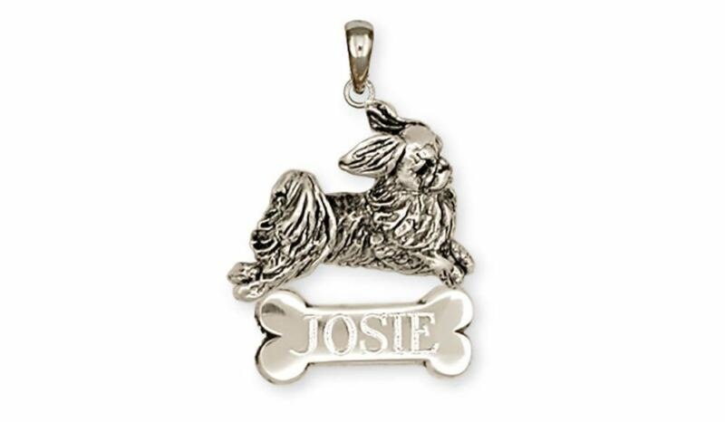 Japanese Chin Personalized Pendant Jewelry Sterling Silver Handmade Dog Personal