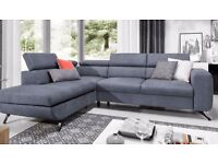 SEWILLA Delivery 1-10 days Corner Sofa Bed Leather or Fabric Brand New Bed Function and Storage