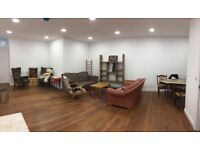 Great room in charming warehouse unit