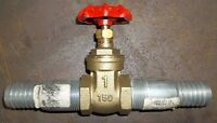 """BRAND NEW NEVER INSTALLED 1"""" GATE VALVE WITH 1"""" HOSE ENDS $10.00"""