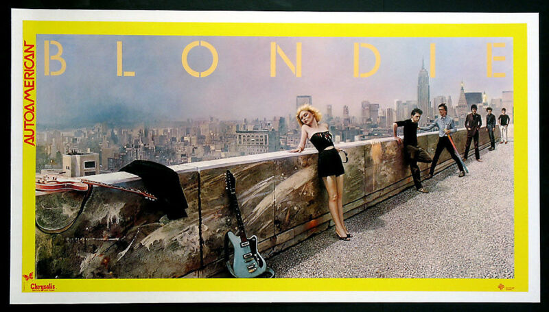 BLONDIE  -  AUTOAMERICAN  -  ORIGINAL ROCK PROMO POSTER (1980)  -   DEBBIE HARRY
