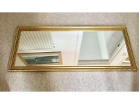 VINTAGE STYLE GOLD FRAMED MIRROR, OVERMANTLE OR HALLWAY, IDEAL UPCYCLE OR SHABBY CHIC