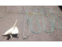 ANCHOR WITH CHAIN AND ROPE