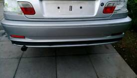 Bmw e46 coupe rear bumper