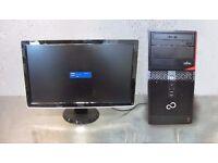 Fujitsu Esprimo P420 E85+ PC + Dell 24 inch monitor, Core i3-4th gen