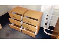 Set of two of two small chest drawers 58 x 39 x 33 cm
