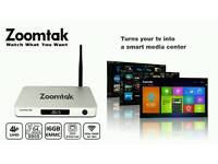 Zoomtak t8h android tv box super high quality 64 bit kodi android 5.1!