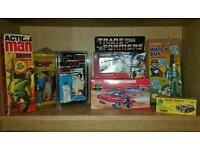 Star Wars, Corgi, Lego, Palitoy, Mego, He Man, Transformers, Action Man, My Little Pony, Nintendo