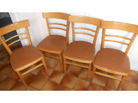 4 Small Retro Kitchen or Dining Chairs