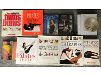 Pilates and other fitness books and DVD's (Collect only SK6 High Lane, Stockport)