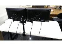 Duronic DM352 Double Twin LCD LED Desk Mount