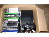 ps2 PlayStation Game Console with 1 control plus 50+ games Bundle