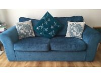 3 Seater teal Sofa and Armchair. Fantastic condition.