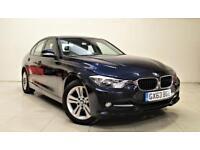 BMW 3 SERIES 2.0 320D SPORT 4d AUTO 184 BHP + 1 OWNER SAT NAV + AUX + BLUETOOTH (blue) 2013