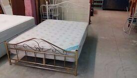 Double metal bed frame with Kozee Sleep mattress