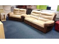 Three and two seater recliner suite 180cm and 225cm