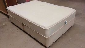 Double bed with Visco Deluxe memory foam mattress. Used
