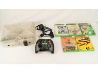 Original Crystal Xbox Console Bundle - Microsoft - 5 Games - Great Condition
