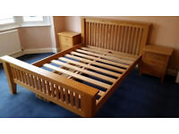 Sold oak beautiful king size bed frame in very good condition. No veneers, all oak