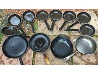 Good Lot chefs cast iron pans and skillets