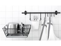 Ikea Fintorp kitchen organisation rail