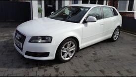 White Audi A3 sport TDI 1.9