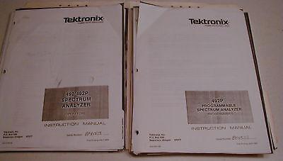 Manuals Copies Tektronix 492492p Spectrum Analyzers Reduced