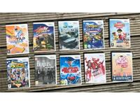 Selection of 10 Nintendo Wii games