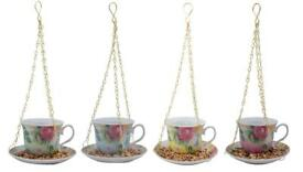 Bird Feeder - Novelty Hanging Teacup Bird Feeder - Brand New