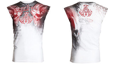 Archaic Affliction Mens T Shirt Sleeveless Tattoo Fight Biker Gym Mma Ufc  40 D